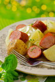 Cabbage Dinner with Smoked Sausage and Potato Royalty Free Stock Photography