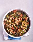 Cabbage, feta and ham bake Royalty Free Stock Image