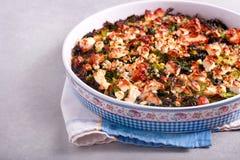 Cabbage, feta and ham bake Stock Image