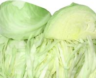 Cabbage fresh, green, crackling Royalty Free Stock Photos