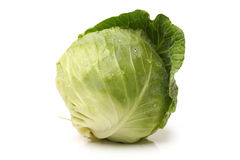 Cabbage. Fresh cabbage isolated on white background Stock Image