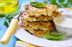 Cabbage fritters. stock photography