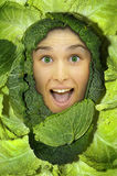 Cabbage girl Stock Photos