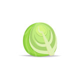 Cabbage icon in cartoon style. Vegetable from garden. Organic food. Cabbage icon in cartoon style Stock Photos
