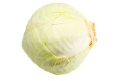 Cabbage isolated Stock Photos