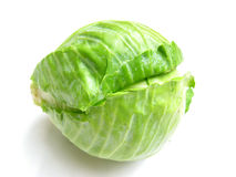 Cabbage-Isolated. Fresh green cabbage isolated on white Stock Images