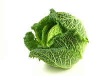 Cabbage, isolated. A cabbage on white isolated background royalty free stock photos