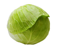 Cabbage is isolated on a white Royalty Free Stock Photography