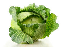 Cabbage isolated on white Royalty Free Stock Photography