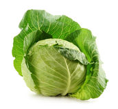 Cabbage isolated on white Stock Images
