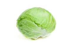 Cabbage isolated. On white background Stock Photos