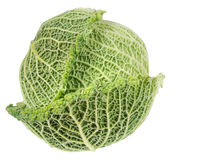 Cabbage isolated on white. Royalty Free Stock Image