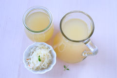 Cabbage juice Stock Images