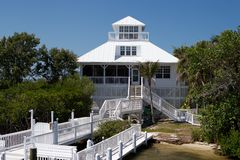 Cabbage Key Home A Royalty Free Stock Photo
