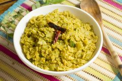 Cabbage Kootu is a comport side dish. Cabbage Kootu is a very comporting dish made with lentils and cabbage Royalty Free Stock Photography
