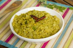 Cabbage Kootu is a comport side dish. Cabbage Kootu is a very comporting dish made with lentils and cabbage Stock Image