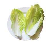 Cabbage leaves on a plate isolated Stock Photo