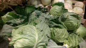 Cabbage in market Stock Images