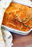 Cabbage and meat pie Royalty Free Stock Images