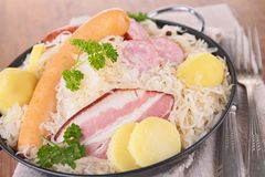 Cabbage and meats Stock Photography
