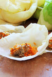 Cabbage and minced meat Stock Photography