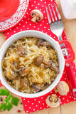 Cabbage with mushrooms Stock Photography