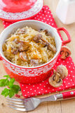 Cabbage with mushrooms Royalty Free Stock Photos