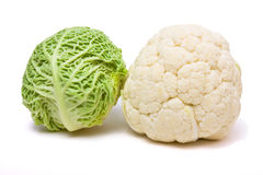 Cabbage n cauliflower Stock Photo