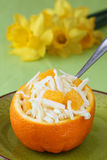 Cabbage and orange salad Royalty Free Stock Photography