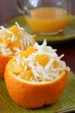 Cabbage and orange salad Royalty Free Stock Photos