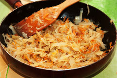 Cabbage in the pan Royalty Free Stock Images