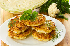 Cabbage pancakes Stock Image