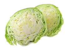Cabbage (with path). Isolated on white royalty free stock photography