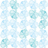 Cabbage pattern. Beautiful, minimalist pattern of cabbage. Vector illustration Stock Photography