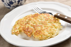 Cabbage patties on a plate Royalty Free Stock Images