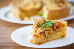 Cabbage pie Royalty Free Stock Image