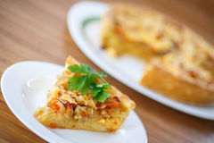 Cabbage pie Royalty Free Stock Photography