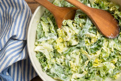 Cabbage pointed salad Stock Photo