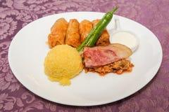 cabbage with polenta Stock Photo