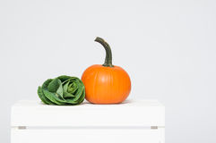 Cabbage and pumpkin Stock Photography