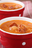 Cabbage and red pepper soup Stock Photos