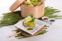 Cabbage with rice bags Royalty Free Stock Photography