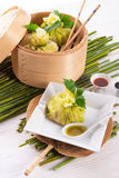 Cabbage with rice bags Stock Photos