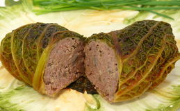 Cabbage roll. Filled with meat Royalty Free Stock Photography