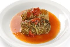 Cabbage roll , stuffed cabbage Royalty Free Stock Photo