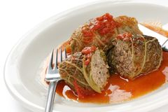 Cabbage roll , stuffed cabbage royalty free stock photos