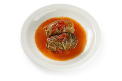 Cabbage roll , stuffed cabbage Stock Photo