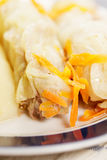 Cabbage rolls and carrots closeup Royalty Free Stock Photography