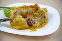 Cabbage rolls closeup Stock Photography