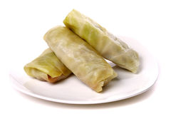 Cabbage rolls filled with ground meat Stock Photo